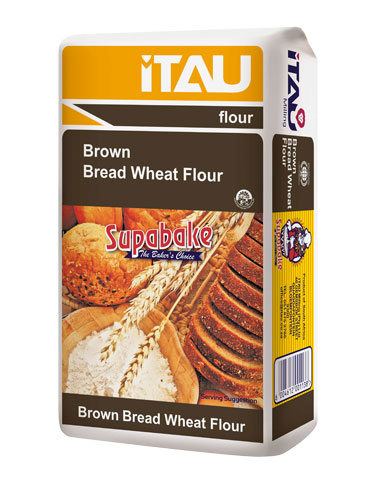 Brown Bread Wheat Flour - Sizes Available: 10x1kg, 4x2.5kg, 4x5kg, 12.5kg, 25kg, 50kg